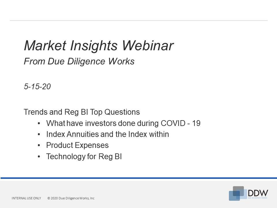 DDW - Market Insights - Webinar 5-15-20 V1