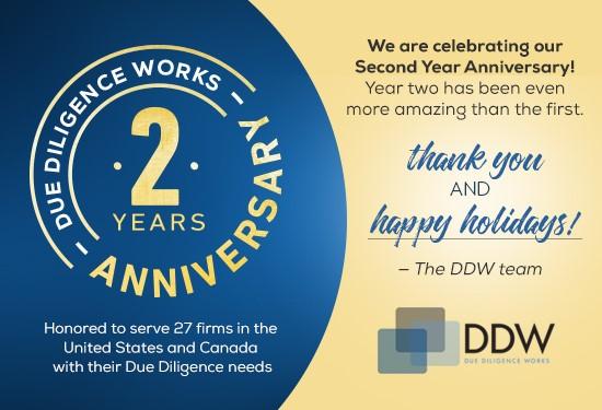 DDW 2 Year Anniversary